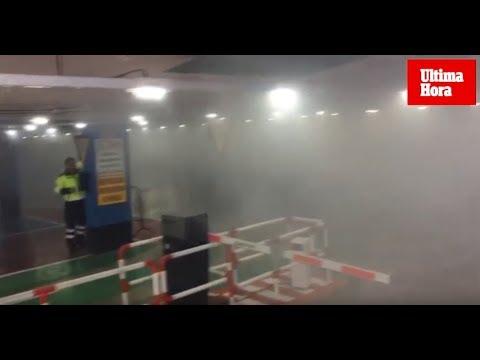 Alarma en la plaza de los Patines de Palma por un incendio en el aparcamiento subterráneo