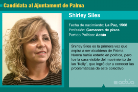 Shirley Siles, una 'kelly' que aspira a ser alcaldesa de Palma