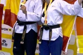 Durán y Camino logran tres medallas en el Europeo de taekwondo
