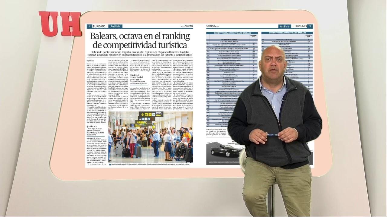 Balears, octava en el ranking de competitividad turística