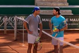 Rafa Nadal se ejercita en el Palma Sport & Tennis Club