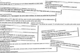 Los wasaps revelan que el fiscal Subirán confesó que «no hay causa» contra Cursach
