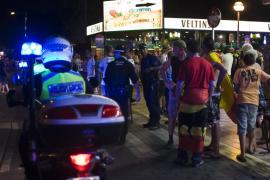 Varios heridos en un atropello con un coche robado en la Playa de Palma