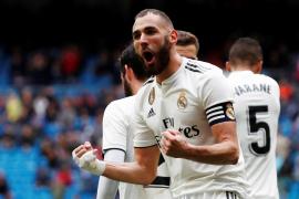 Benzema levanta al Real Madrid