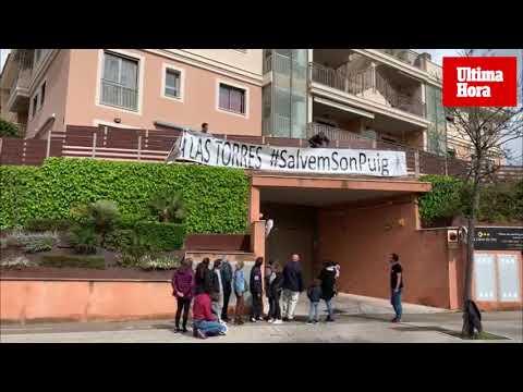 Los vecinos de Son Puig retiran la pancarta reivindicativa contra las torres