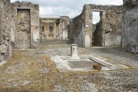 Denunciada una turista por intentar robar fragmentos de un mosaico en Pompeya