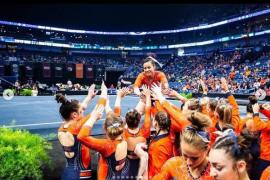 La emotiva despedida de la gimnasta que se rompió las dos piernas