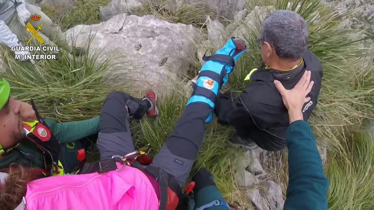 Complicado rescate de una senderista en la Serra de ses Farines