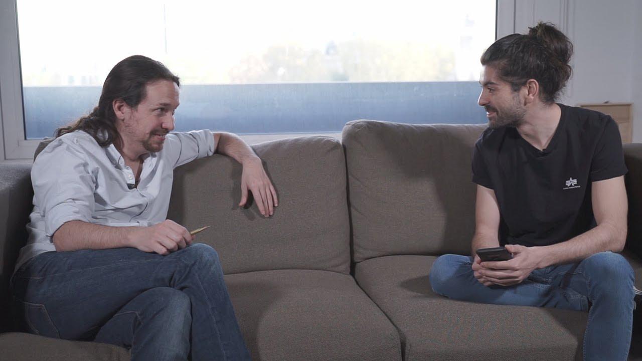 Pablo Iglesias, el único que acepta una entrevista de un youtuber: «Votad, cabrones»