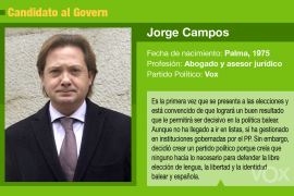 Jorge Campos, un político sin complejos