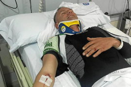Un ciclista, herido grave al partirse su bicicleta cuando entrenaba en Maioris