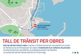 Cortes de tráfico en Portopí