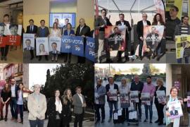La pegada de carteles simbólica da paso a la campaña electoral