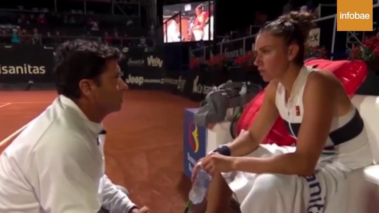 Polémica reprimenda a la tenista española Sara Sorribes: «¿Me pongo yo la faldita?»