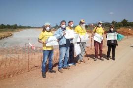 El Consell niega que use material tóxico en la vía Llucmajor-Campos, como asegura Terraferida