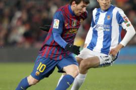 Tello y Messi evitan que el Barça se quede helado