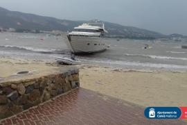 Cuatro barcos a la deriva en Calvià por el temporal