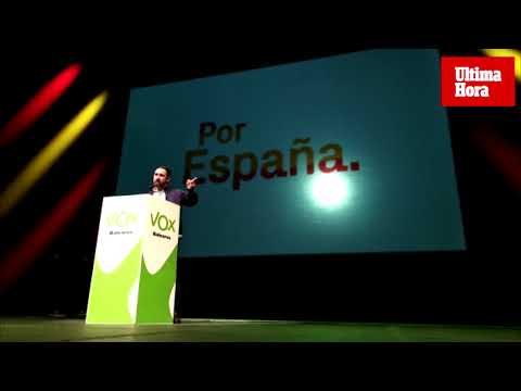 Abascal pide en Palma el voto para Vox «por la unidad de España»