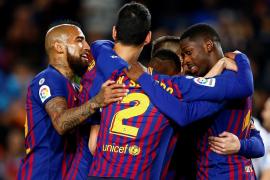 La solvencia sin brillo sitúa al Barcelona a dos suspiros del título