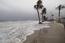 Salidas de vía, conexiones marítimas interrumpidas y lluvia en las Pitiusas