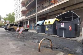 La policía detiene a dos pirómanos por el último incendio de contenedores en Palma