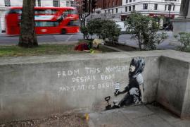 Aparece un posible grafiti de Banksy en Londres