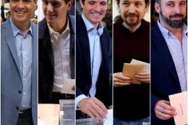 Los candidatos votan y piden una alta participación