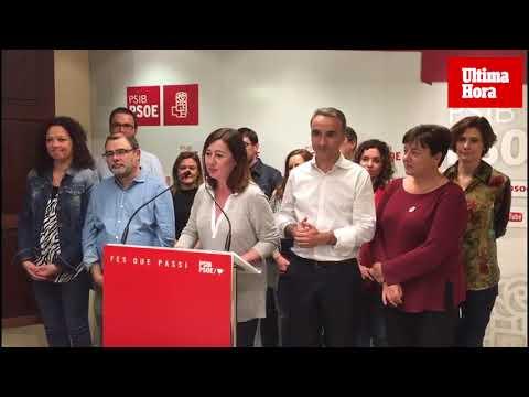 Armengol: «Es un resultado histórico que nos da mucha fuerza»
