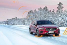 Tecnología de comunicación entre vehículos Volvo