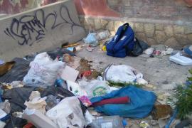 El abandonó  total en la zona de la calle Alfonso el Sabio