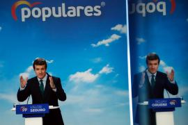 Casado tilda a Vox de «ultraderecha» y a Ciudadanos como un partido «de tránsfugas»