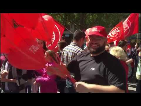 Animada manifestación del Día del Trabajo en Palma