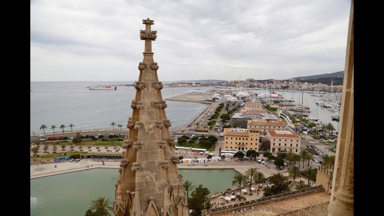 Las impresionantes vistas de Palma desde las terrazas de la Catedral de Mallorca
