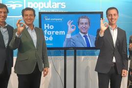 El PP 'esconde' sus siglas en el cartel de los candidatos a las elecciones del 26-M