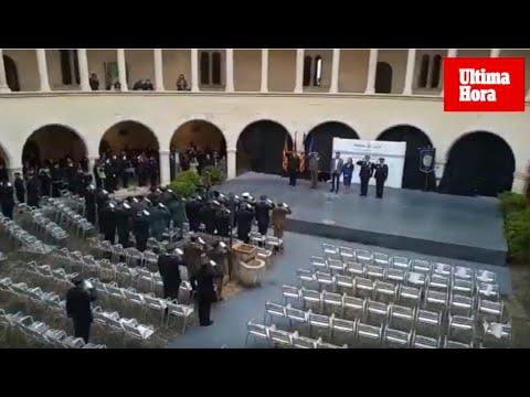 La lluvia obliga a cancelar los discursos en la Diada de la Policía Local de Palma