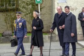 Los reyes eméritos dan el último adiós al gran duque Juan de Luxemburgo