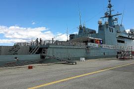 La Armada Española realiza un ejercicio antiminas simulado en Palma