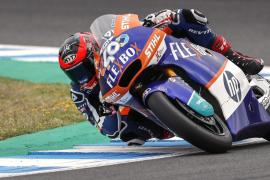 Augusto Fernández, tercero en la carrera de Moto2 de Jerez