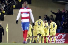 Un afortunado Villarreal vence a un buen Granada