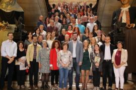 El Ayuntamiento de Palma homenajea a 70 funcionarios con 33 años de servicio