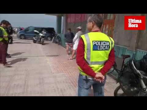 Operación policial contra los trileros en la Playa de Palma