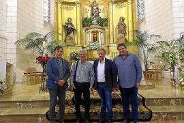 El retablo de Sant Miquel de Son Carrió brilla de nuevo