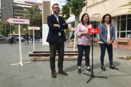 Armengol promete un tranvía al aeropuerto y 25 millones para mejorar el tren
