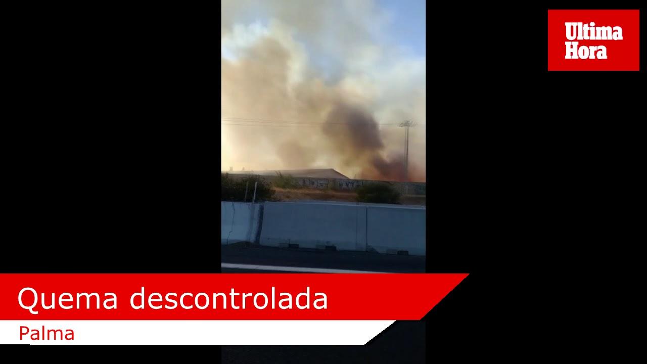 Alarma en Palma por una quema de rastrojos que se descontroló