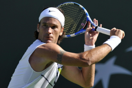 Carlos Moyá sufrió para superar la primera ronda del torneo Indian Wells