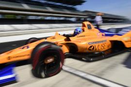Fernando Alonso en las 500 millas