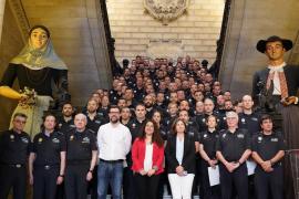 96 policías interinos de Palma inician prácticas para ser funcionarios