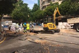 Restablecido el servicio en las zonas afectadas por la rotura de una tubería en Palma