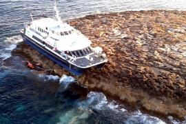 Maverick Dos embarrancado en Formentera