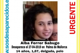 Buscan a una menor de 14 años desaparecida en Palma